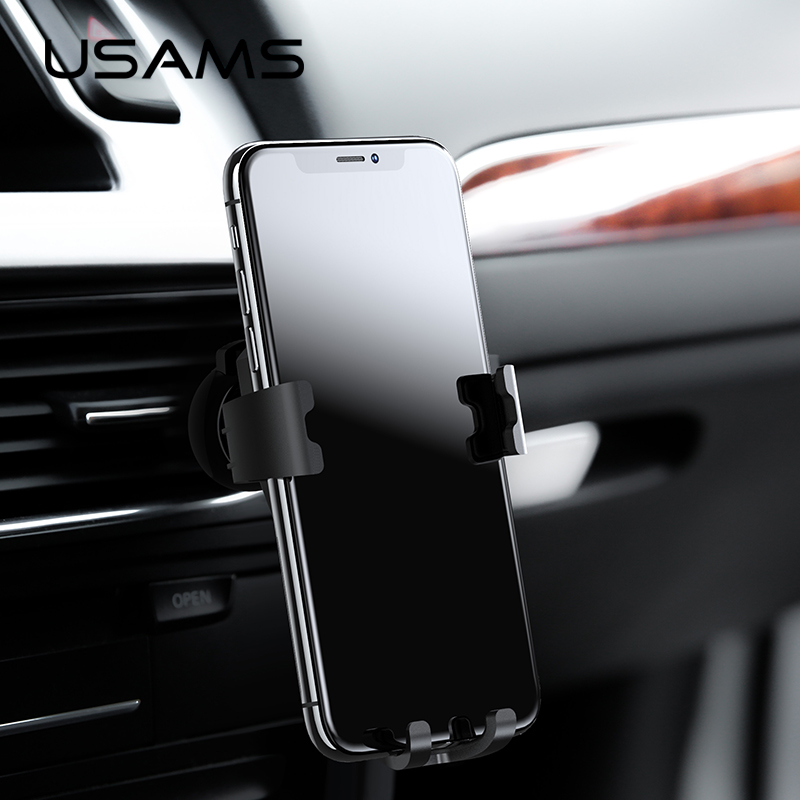 USAMS Universal Aromatherapy Gravity Bracket Holder for iPhone X 8 Samsung Support Mobile Phone Stander Gravity Car Phone Holder