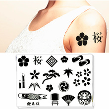 M-theory Japanese Festival Toys Temporary Tattoos Body Art Flash Tatoos Stickers 17x10cm Tattoo Sticker Swimsuit Makeup