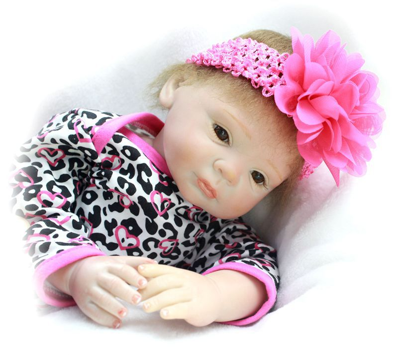 Pursue 20/50 cm Lifelike Baby Girl Doll Vinyl Silicone Reborn Baby Girl Doll Children Play House Toys Birthday Christmas Gift pursue 22 55 cm cloth body silicone reborn baby doll toys play house newborn boy girl baby doll birthday gift christmas present