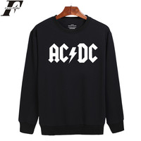 Rock And Roll AD DC Harajuku Style Hoodies Men Hip Hop Streetwear Long Sleeve Capless New