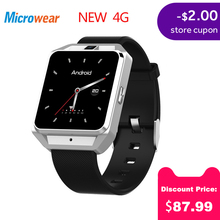 купить Microwear H5 1.54 Inch MTK6737 Quad Core 4G smart watch Phone Android 6.0 8G ROM GPS WiFi Heart Rate Video Call smartwatch men дешево