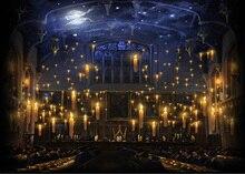 Fondo de poliéster o vinilo de alta calidad con impresión por ordenador, velas de Hogwarts, Iglesia, Salón del almuerzo, Fondo de poliéster o vinilo