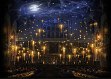 Hogwartsเทียนโบสถ์อาหารกลางวันHallพื้นหลังโพลีเอสเตอร์หรือไวนิลผ้าคุณภาพสูงคอมพิวเตอร์พิมพ์ฉากหลัง
