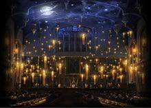 Świece hogwart kościół sala obiadowa tło z poliestru lub tkaniny winylowej wysokiej jakości komputer wydruku ściany tła