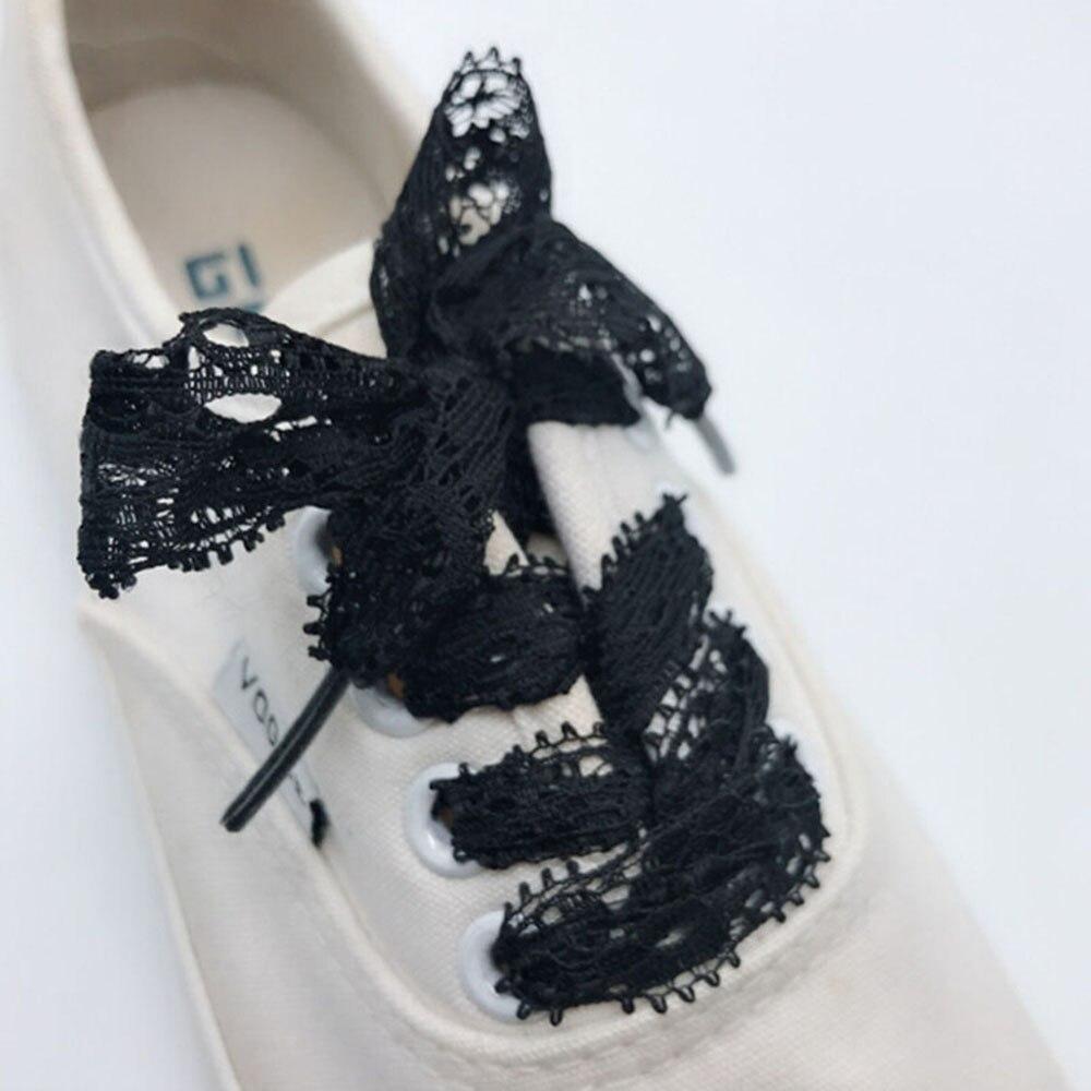 1 Pair Shoelace New 3CM Width Fashion Sexy Lace Shoelaces 100CM Length Canvas Sneaker Sport Shoes Laces 3 Colors