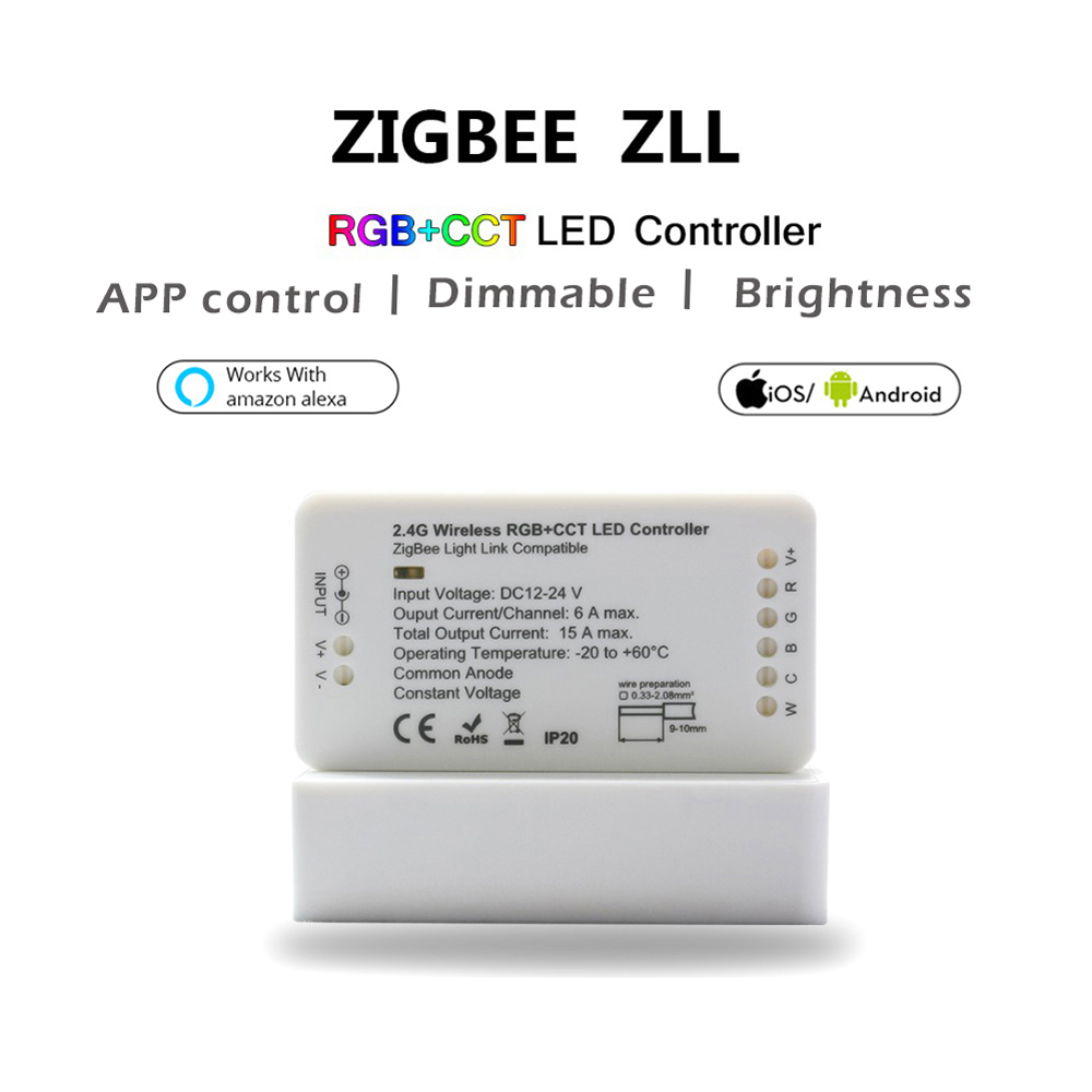 Zigbee Led Amazon Alexa Echo Lightify Tradfri Compatible Smart Home Rgb Strip Lighting Wiring Schematic Product Instructions