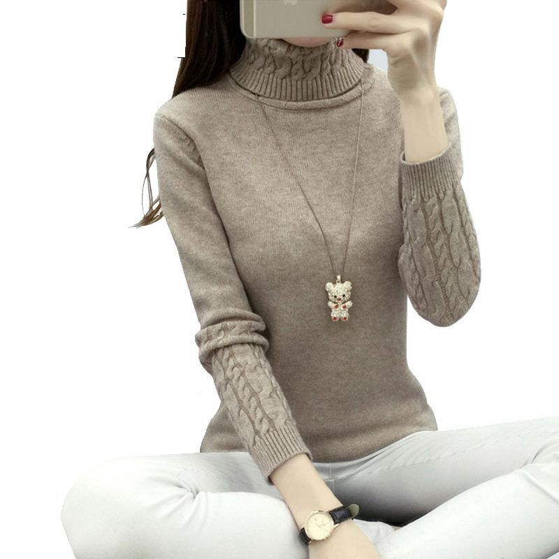 OHCLOTHING Women Turtleneck Winter Sweater Women 2019 Long Sleeve Knitted Women Sweaters And Pullovers Female Jumper Tricot Tops