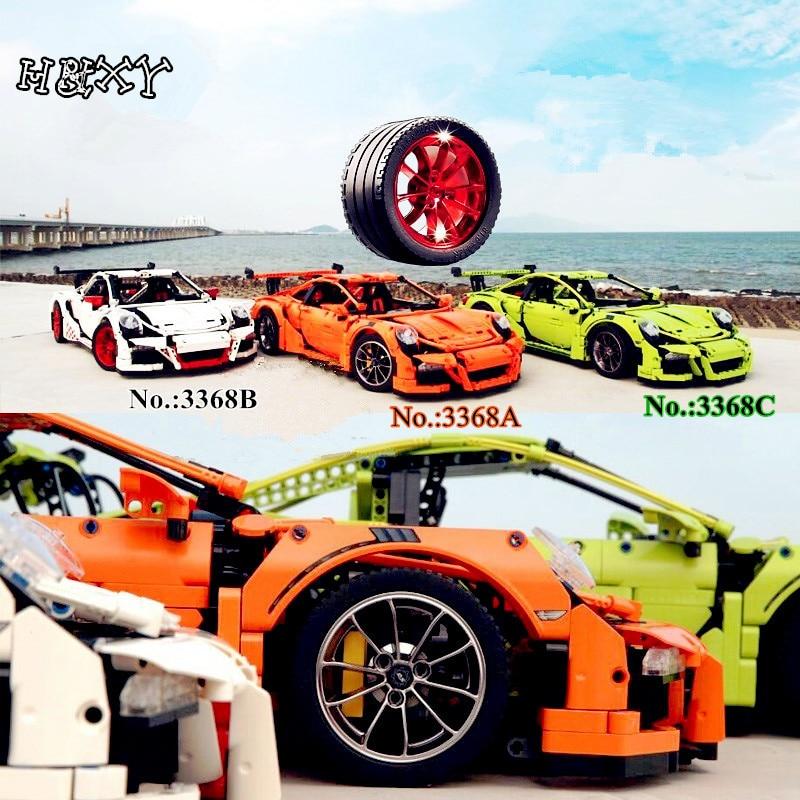 H&HXY IN STOCK 2726PCS  3368 White/ Green /Qrange Car Model Building Kits Blocks Toys Bricks Compatible 42056 Christmas gift in stock h