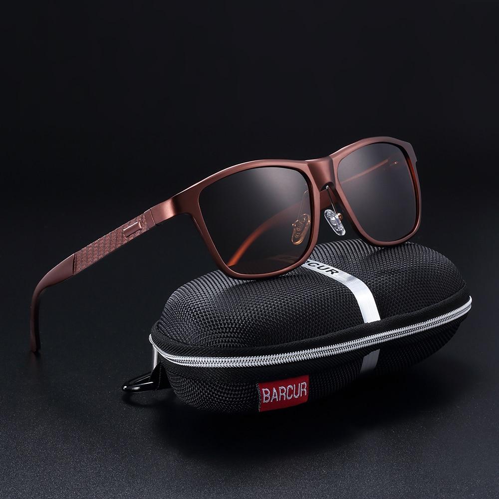BARCUR Merk Unisex Retro Aluminium + TR90 Zonnebril Gepolariseerde lens Vintage Eyewear Accessoires Zonnebrillen voor mannen / vrouwen cadeau