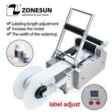 ZONESUN Полуавтоматическая круглая машина для маркировки бутылок MT-50 для ковриков бутылка для лекарств бутылка