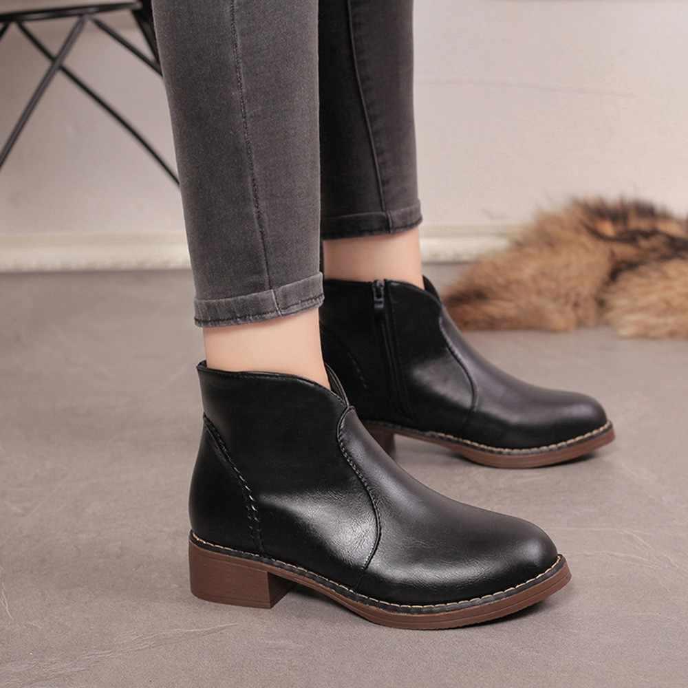 Женская обувь; женская зимняя обувь 2018 года; повседневная женская обувь; зимние ботинки на плоской подошве; женская обувь из натуральной кожи на плоской подошве; Zapatos De Mujer