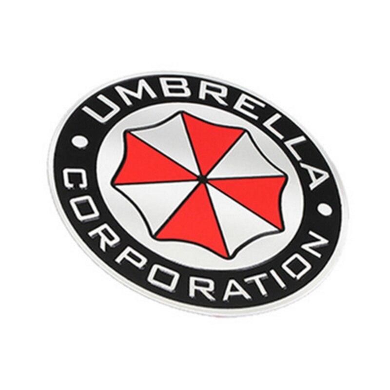3D Aluminum Umbrella corporation car sticker for Toyota Camry Highlander RAV4 Crown Reiz Corolla Vios Yaris L