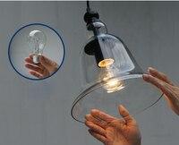 Nordic современный Стекло подвесные светильники колокольчик подвесной светильник Гарантировано 100% Бесплатная доставка!