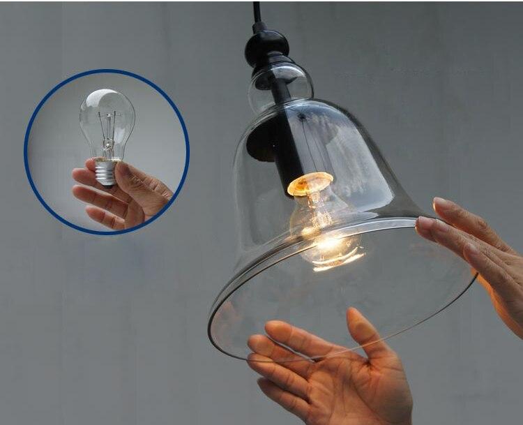 Nordic Modern Glass Pendant Light Fixtures Little bell Pendant Light Guaranteed 100%+Free shipping!