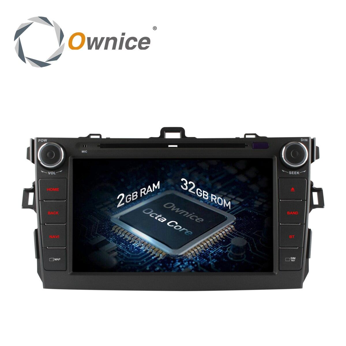 Ownice C500 Android 6.0 Octa 8 Core for Toyota Corolla 2007 - 2011 Car DVD Radio GPS Navi wifi 4G LTE Network 2GB RAM 32GB ROM