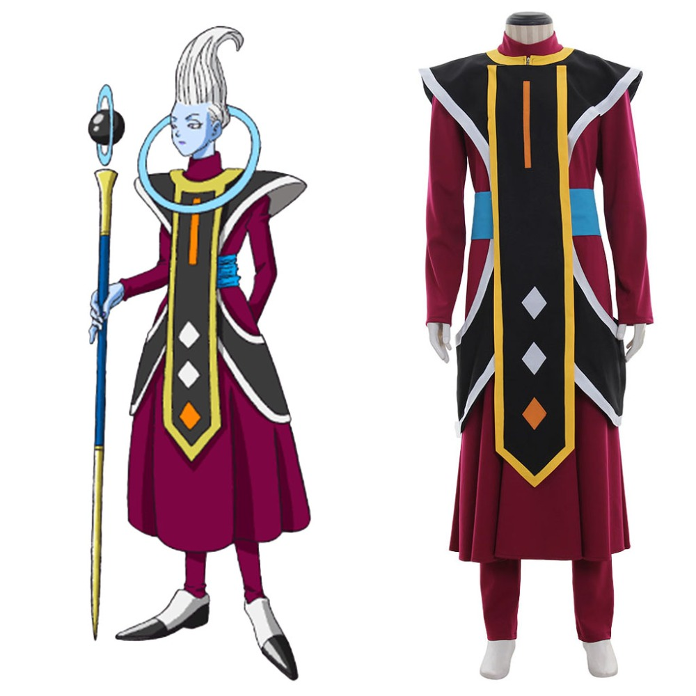 Cosplaydiy Anime Dragon Ball Angel Uisu Whis Cosplay Costume Adult Halloween Suit L320