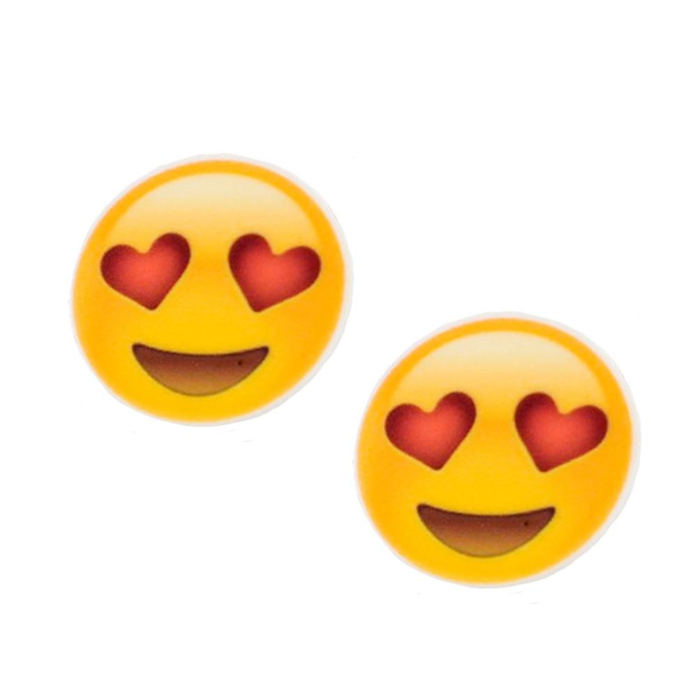 Happy Red Heart Eyes Emoji Planar Resin 20Pcs 30mm Kawaii Cartoon Cabochons Flatback Decoden DIY Kids Jewelry Craft
