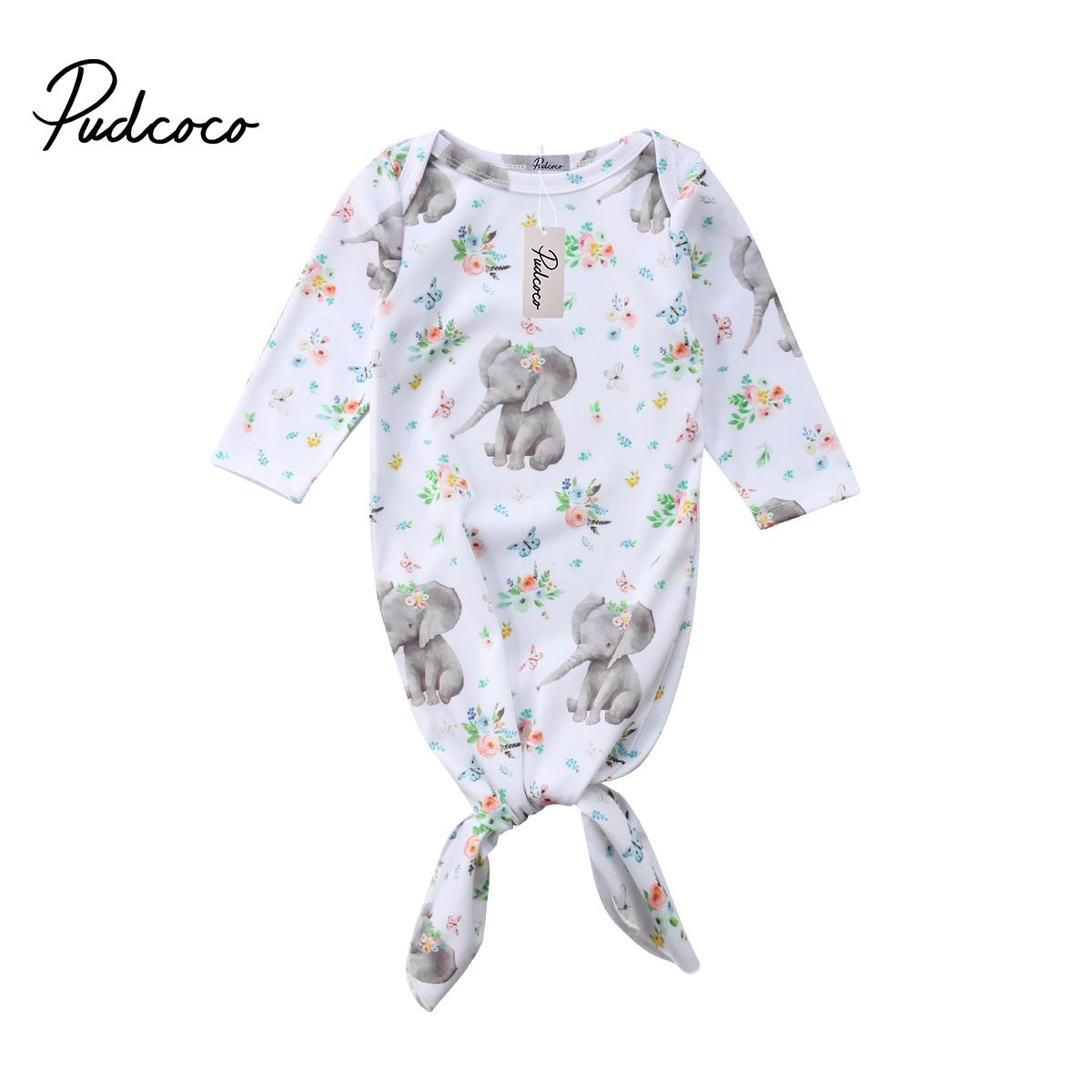 Pudcoco 2019 New Tollder Kid Baby Clothing Flowers Newborn Baby Girls Blanket Sleeping Swaddle Wrap Outfits personality CX