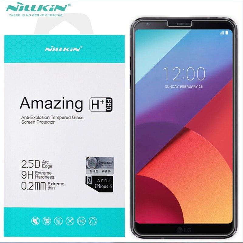 Nano vidrio templado para LG G6 nillkin 9 h anti-explosión H/H + pro película protectora para LG G6 h870 protector de pantalla