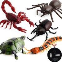 Инфракрасный пульт дистанционного управления, симулятор тараканов, животное, жуткий паук, жук, шалость, веселье, RC детская игрушка, подарок, ...