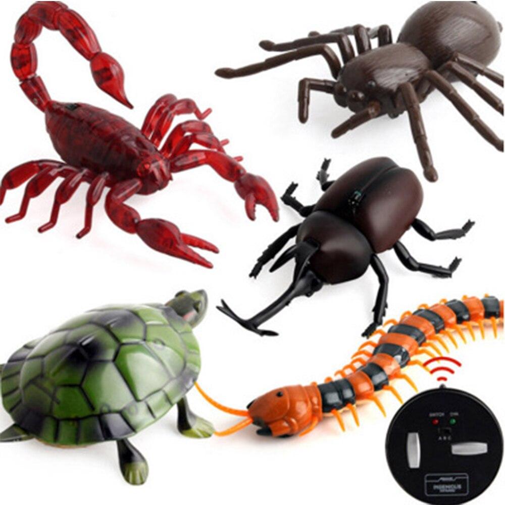Controle remoto infravermelho barata simulação animal assustador aranha bug brincadeira divertido rc crianças brinquedo presente de alta qualidade transporte da gota