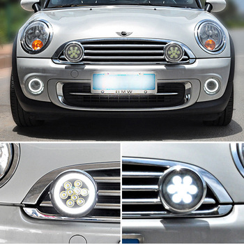 White Led  Halo DRL Rally Driving Lights For Mini Cooper S R56 R57 R58 R59 R60