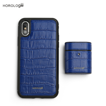 Horologii Custom Name Free for Best iPHONE CASE NEW 11 Pro Max Cover Italian leather crocodile pattern gift box dropship