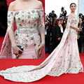 2015 cannes Film Festival 68th Full Embroidery Celebrity dresses Half Sleeve Fanbingbing Red Carpet Dresses
