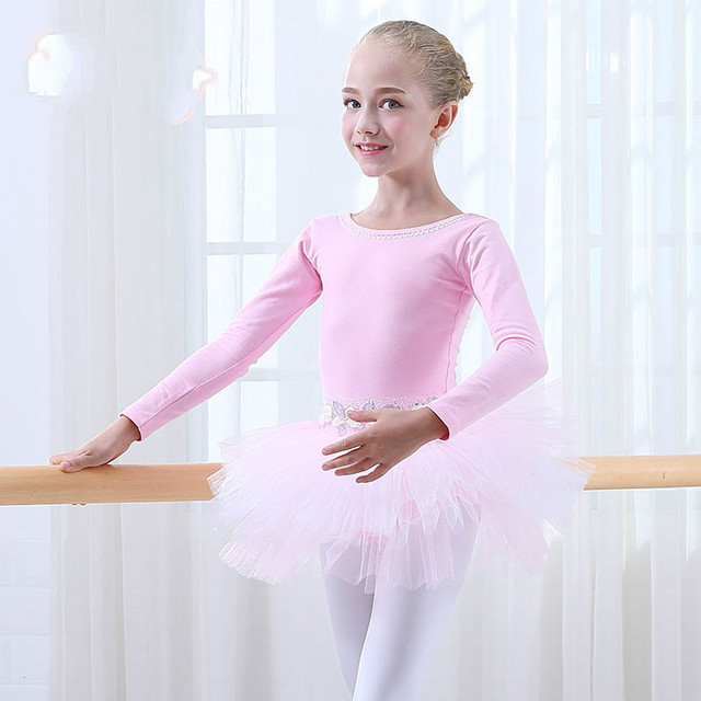 fcea80505834 Dance Clothes Children  s Long Sleeved Girls Performing Autumn and ...