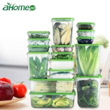 16 шт. набор, кухонный ящик для хранения с различными размерами, контейнеры для пищевых продуктов, герметичный органайзер для фруктов, холодильник B