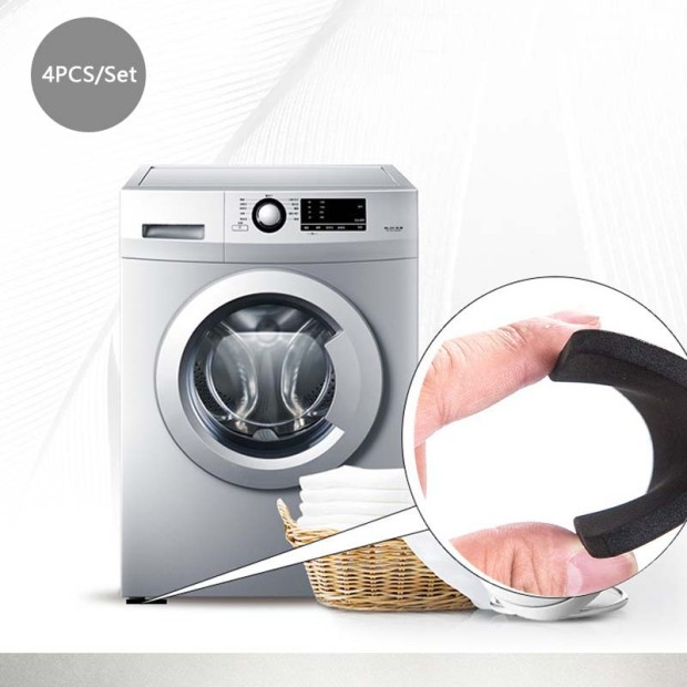 New Safety 4Pcs/Set Washing Machine Black Rubber Leg Skid Safety Stopper Anti-Vibration Pad Washing Machine Shock Absorbing Pads