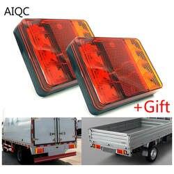 2 шт.. водостойкие автомобильные 8 светодиодный ных задних фонарей задние лампы пара Лодочный Прицеп 12 В задние части для прицепа грузовика