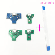 For PS4 Controller USB Charging Port Socket Circuit Board 12Pin JDS 011 030 040 14Pin 001 Connector(China)