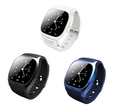 M26 Reloj Bluetooth Inteligente de Pulsera con Pantalla LED Barómetro Alitmeter Podómetro para Android IOS Teléfono Móvil Reproductor de Música