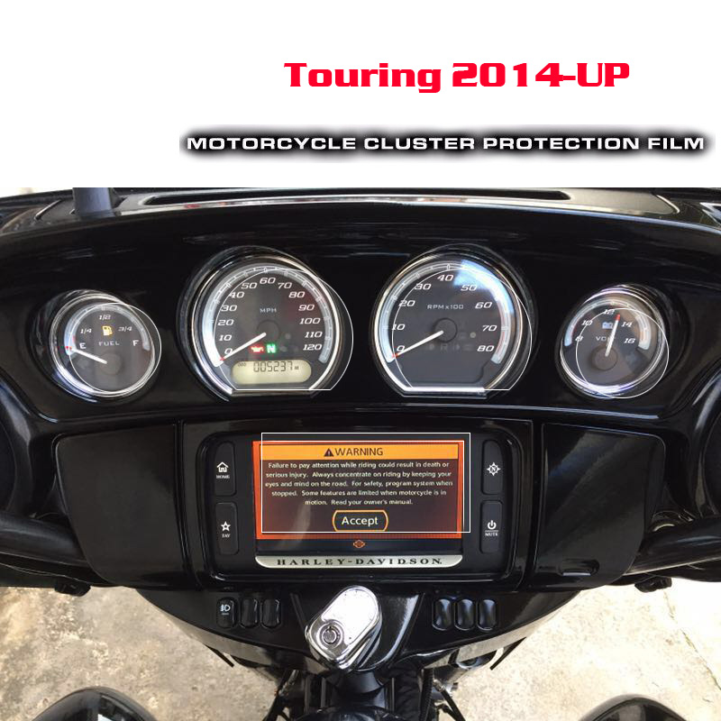 Pour Harley14-later Electra Glide Street Glide Ultra limité Tri Glide moto Protection anti-rayures Film protecteur d'écran