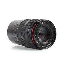 MK Pro 85mm F/2.8 -F/22 MF Manual focus Macro Portrait Lens w/ lens hood for Panasonic Olympus Micro M4/3 Mount SLR DSLR Camera