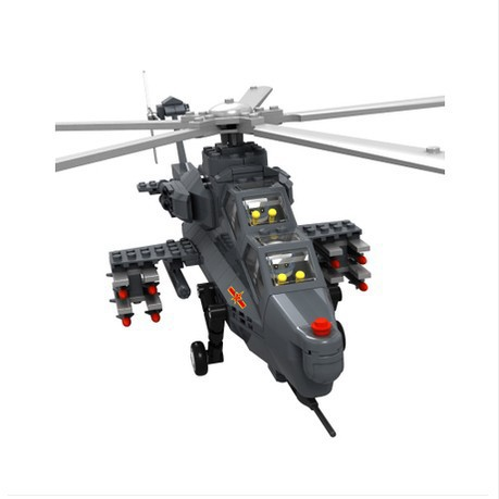 Model building kits compatible with lego Military Stavanger WZ10 helicopter 3D blocks Educational model building toys hobbies stavanger 3d three dimensional model of the kremlin building famous assembled building blocks compatible legoe educational toys