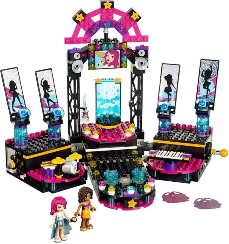 children toy CHINA BRAND 406 self locking bricks Compatible with Lego Friends 41105 Pop Star Show