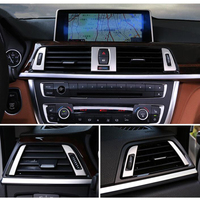 7pc Steel Air Adjust Switch Outlet Cover Trim For BMW 4 Series F32 F33 F36 14 17 & 3 Series F30 F31 GT F34 13 16