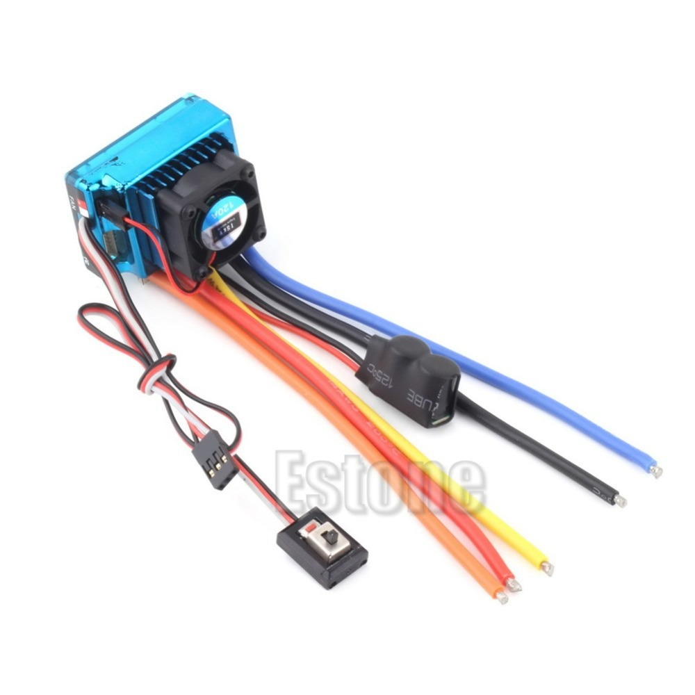 Hot Newest 120A ESC Sensored Brushless Speed Controller For 1/8 1/10 Car/Truck Crawler 45a brushless speed controller esc w fan for 1 18 1 12 cross country car