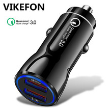 Car USB Charger Quick Charge 3 0 + 3 1A Mobile Phone Charger 2 Port USB Fast Car Charger for iPhone Samsung Tablet Car-Charger cheap Nokia Blackberry Lenovo Xiaomi Motorola Universal APPLE MEIZU Sony Huawei RoHS FC-03 Car charger Qualcomm Quick Charge 3 0