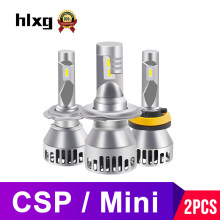 hlxg CSP Mini H4 LED H7 H11 H8 HB4 H1 HB4 9006 9005 HB3 Car Headlight Bulbs 6000K Auto Fog Lamps Motorcycle Hi Low Beam 12V 24V(China)