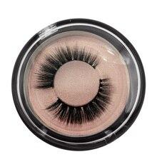 SHIDISHANGPIN  1 pairs winged eyelashes naturl long mink lashes hand made 3D false makeup box