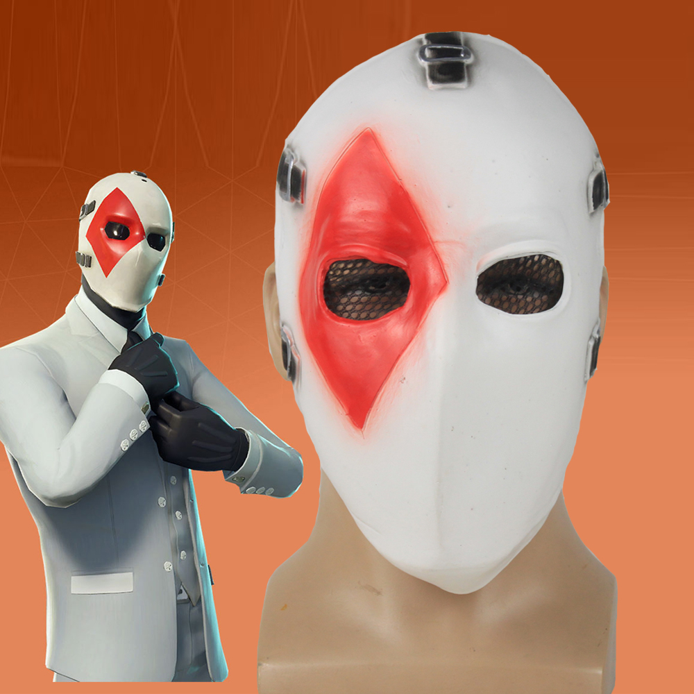 Game High Stakes Mask Cosplay Battle Royale Half Face Latex Masks Helmet Halloween Carnival Masquerade Party Props DropShipping