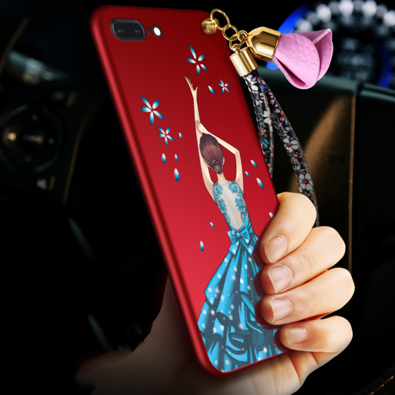 For IPhone 7 8 Plus case, MCWL Flower Girl Full Coverage Protector silicon Fitted+Hand rope for IPhone7/IPhone7Plus/IPhone8 plus