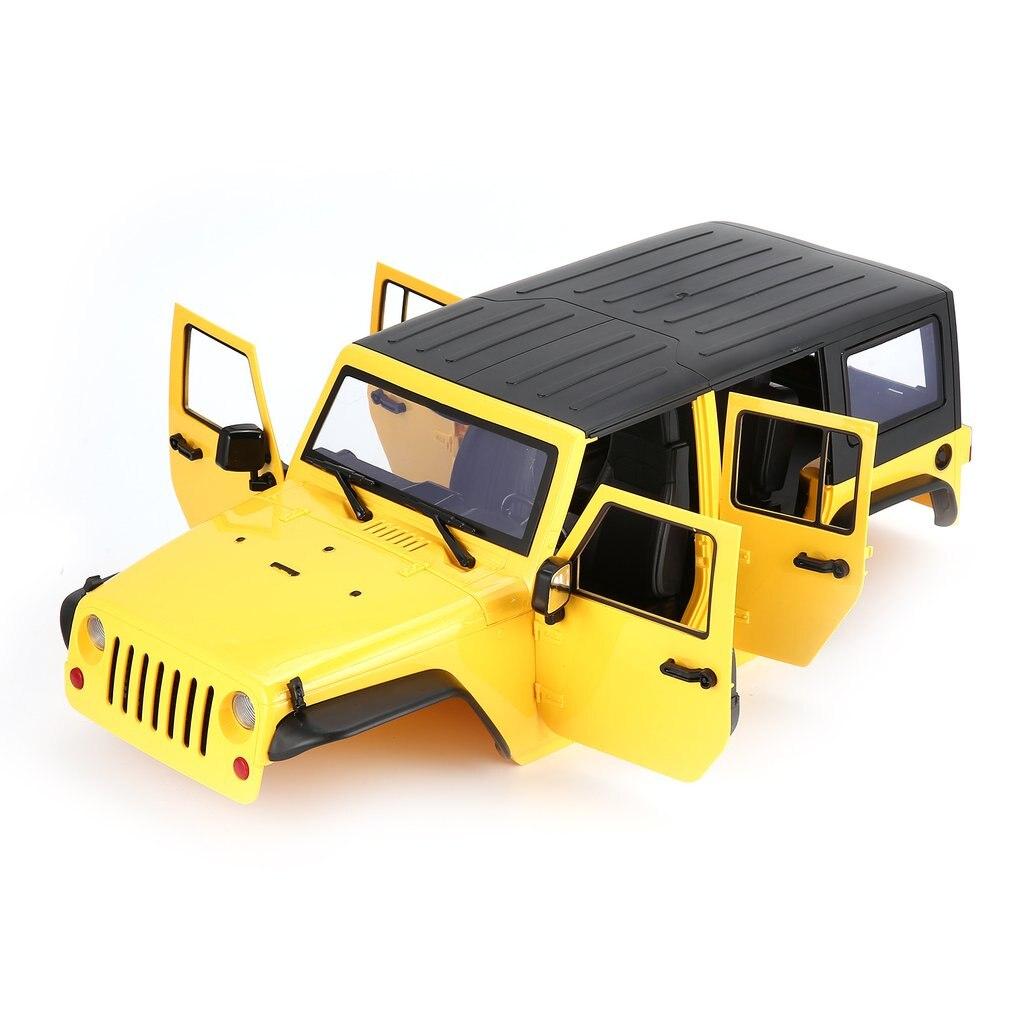 En Plastique dur Coquille De Voiture 313mm Shell Corps DIY Kit pour 313mm Empattement 1/10 Wrangler Jeep Axial SCX10 RC voiture Sur Chenilles Véhicule Accessoire