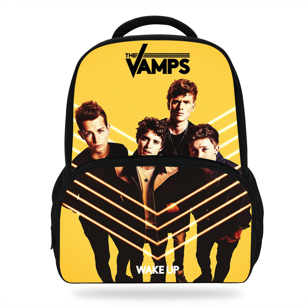 Aliexpress.com   Buy 14Inch Popular Super Star Print Bag For Children Band The  Vamps Backpack For School Girls Boys Casual Bags from Reliable School Bags  ... 9b880ed4bc1a5