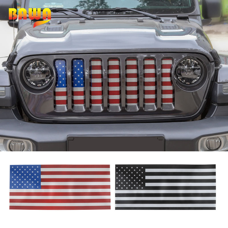 FitFor Jeep Cherokee 2014-2017 Front Grille Inserts Mesh Grill Accessories-Red