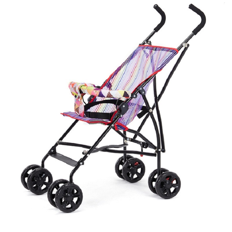 Sozzy Горячая продажа переносная, для прогулок с малышом ручной складной зонтик автомобиля складной простой складной детский четырехколесная тележка - 4
