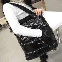 High Quality Women Handbags Fashion Winter Women's Single Shoulder Tote Creative Space Pad Cotton Feather Down Bucket Handbag